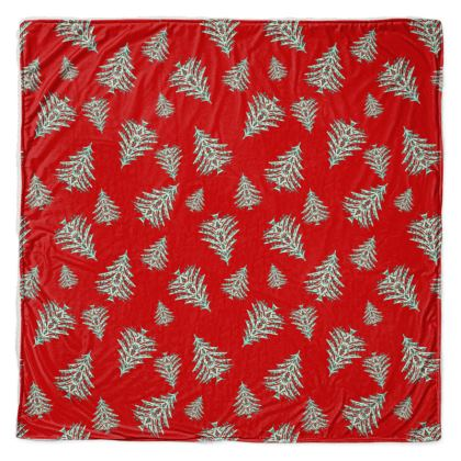 Tiny Trees Throw Blanket (Red)
