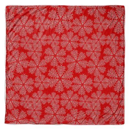 Red Festive Throw Blanket