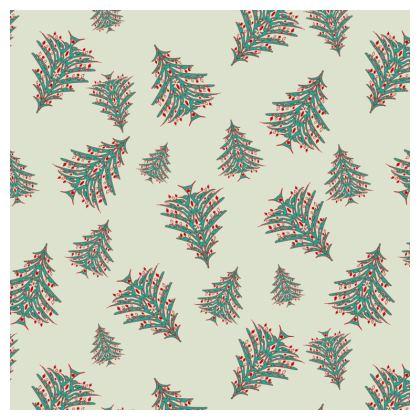 Tiny Trees Cushion (White)
