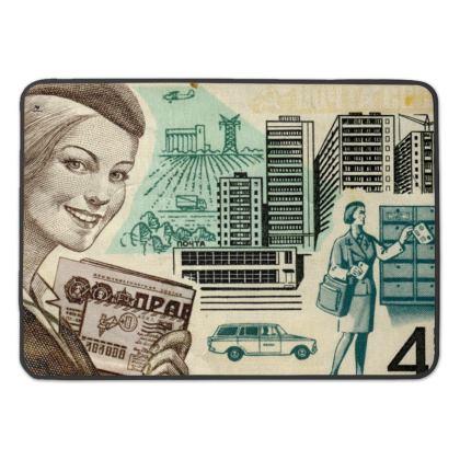 Soviet Stamp Premium Bath Mat
