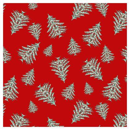 Tiny Trees Cushion (Red)