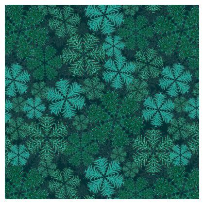 Snowflakes Cushion (Teal)