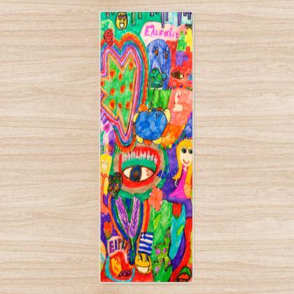 Pop Art Colorful City by Elisavet Yoga Mat