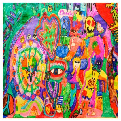 Pop Art Colorful City by Elisavet Travel Wallet