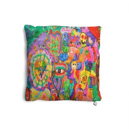 Pop Art Colorful City by Elisavet Pillows Set