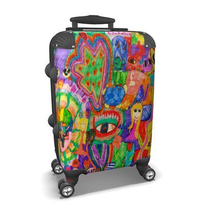 Pop Art Colorful City by Elisavet Suitcase