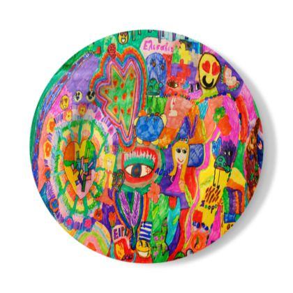 Pop Art Colorful City by Elisavet Decorative Plate