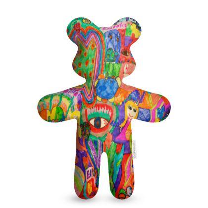 Pop Art Colorful City by Elisavet Teddy Bear
