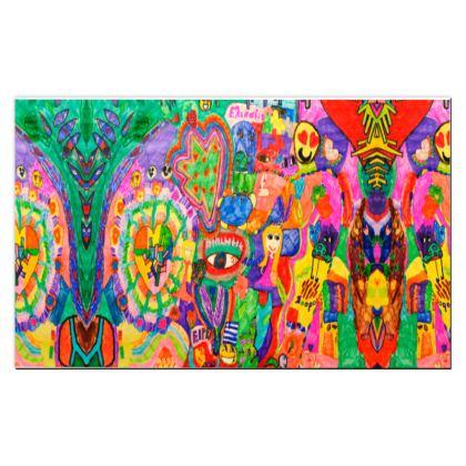 Pop Art Colorful City by Elisavet Playmat