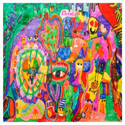 Pop Art Colorful City by Elisavet Flip Flops