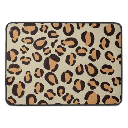 Leopard Print Premium Bath Mat