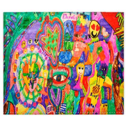 Pop Art Colorful City by Elisavet Duvet Covers Set