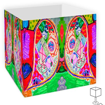 Pop Art Butterfly by Elisavet Square Lamp Shade