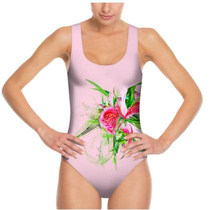 Swimsuit - Baddräkt - Pastells Pink