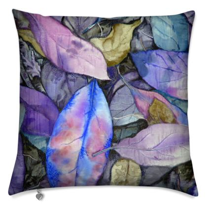 Autumn Leaf Mauve Cushion