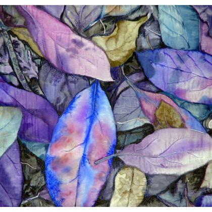 Autumn Leaf Mauve Cushion