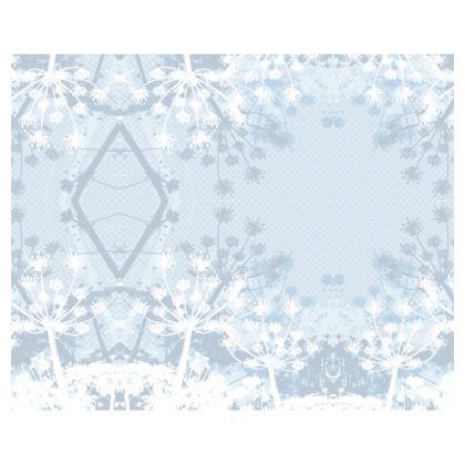 Kimono - Florals in Pale Grey and White