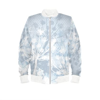 Bomber Jacket - Floral White