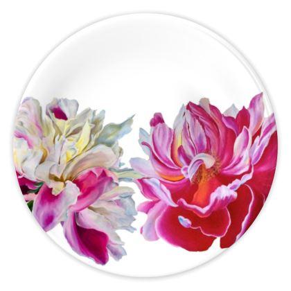 'Pink Peony'  China Plates