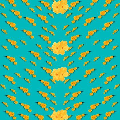yellow sakura  Kimono