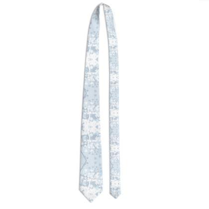 Tie - Florals in White
