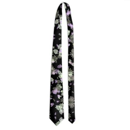 Tie - Florals in Black
