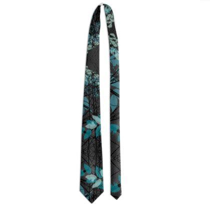 Tie - Leaves in Black