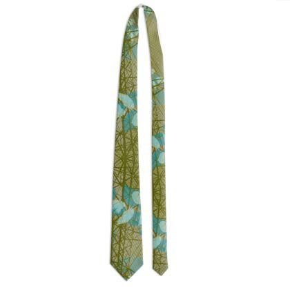 Tie - Leaves in Green