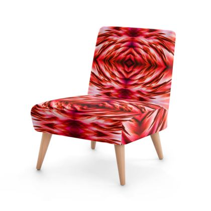 Flamingo Feathers Red Occasional Chair