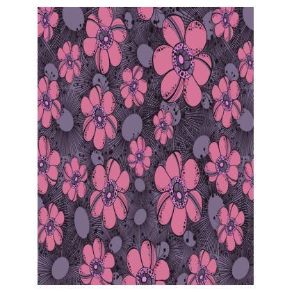 Large Tray 43x33cm - Purple Flower Burst