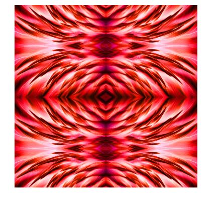 Flamingo Feathers Red Slip Dress by Elisavet