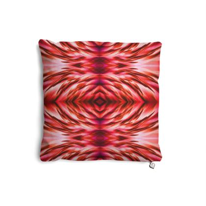 Flamingo Feathers Red Pillows Set