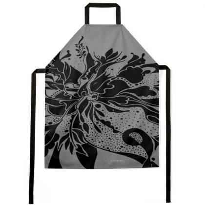 Apron - Förkläde - Black ink Grey