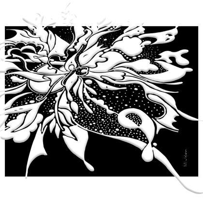 Handbag - Handväska - White ink black