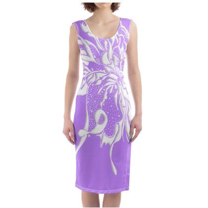 Bodycon dress - Fodralklänning - White Ink pale lila