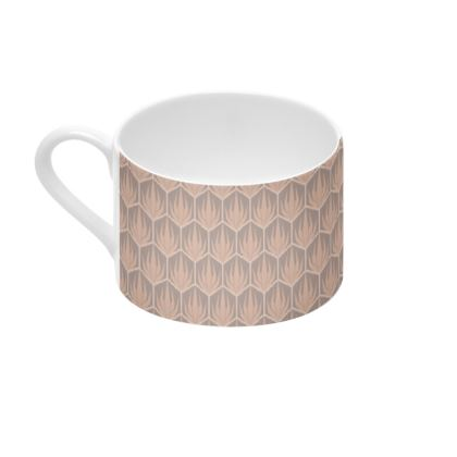 Palm Deco Pattern ~ DESERT OASIS Cup and Saucer