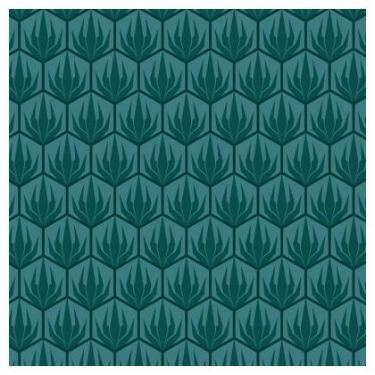 Palm Deco Pattern China Plate