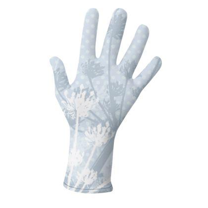 Gloves- Florals in White
