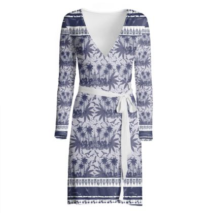 Singing Bird Collection - Indigo - Luxury Wrap Dress