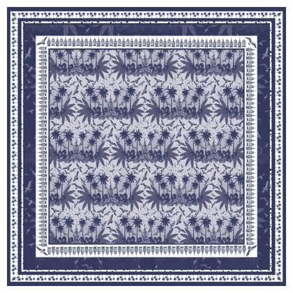 Singing Bird Collection - Indigo - Luxury Cushion