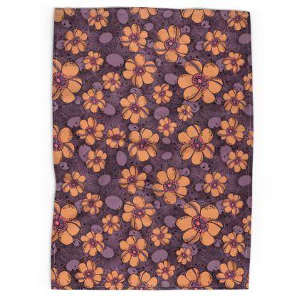 Tea Towel - Orange Flower Burst
