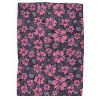 Tea Towel - Purple Flower Burst
