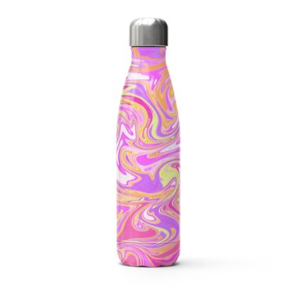Pink Marbling Stainless Steel Thermal Bottle