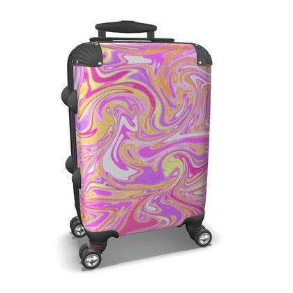 Pink Marbling Suitcase
