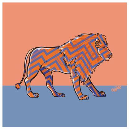 COMMIC Africa double header cushion - Lion/Gorilla