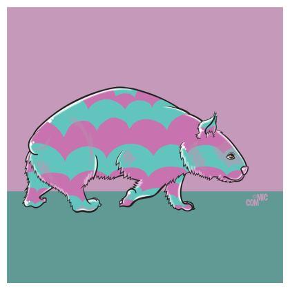 COMMIC Australia - Double header cushion feat. Wombat/Devil