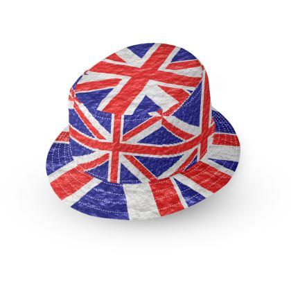 Bucket Hat Union Jack Flag