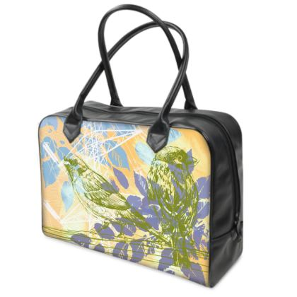 Holdall (Small) - Yellow and Green Leaves