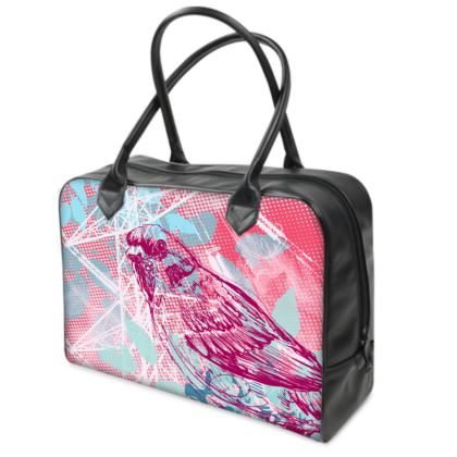 Holdall (Small) - Pink Leaves