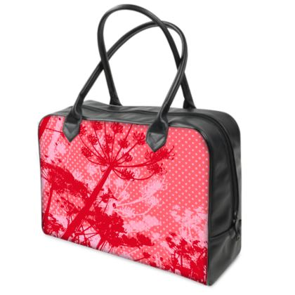 Holdall (Small) - Red Florals